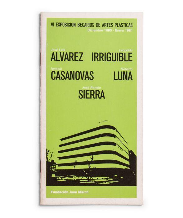 Catalogue : Exposición becarios de artes plásticas VI