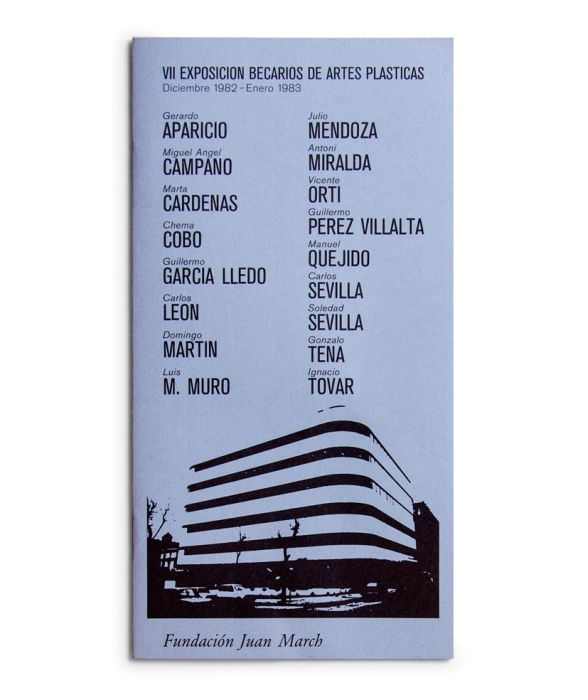 Catálogo : Exposición becarios de artes plásticas VII