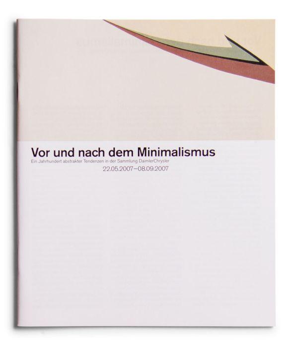 Catálogo : Vor und nach dem Milimalismus. Ein Jahrhundert abstrakter Tendenzen in der Sammlung DaimlerChrysler