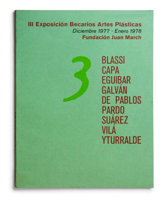 Catálogo : Exposición becarios de artes plásticas III