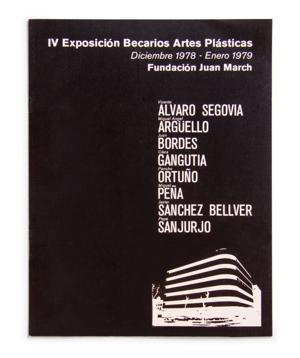 Catalogue : Exposición becarios de artes plásticas IV