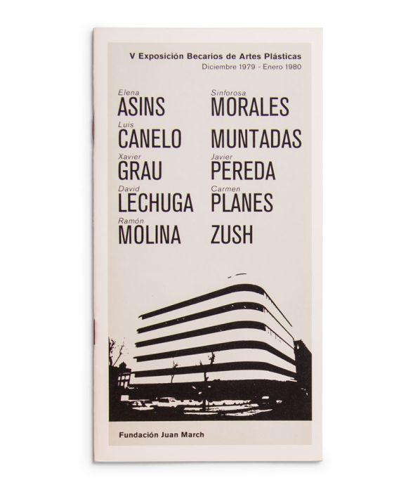 Catálogo : Exposición becarios de artes plásticas V