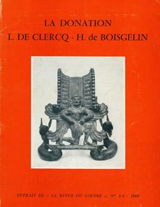 Front Cover : La donation L. de Clercq-H. de Boisgelin