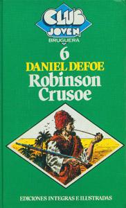 Cubierta de la obra : Robinson Crusoe