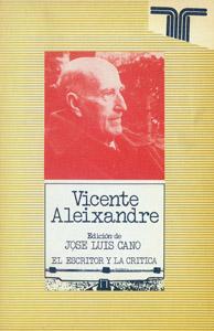 Cubierta de la obra : Vicente Aleixandre