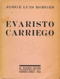 Front Cover : Evaristo Carriego