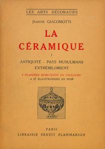 Front Cover : La céramique
