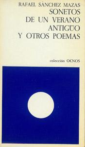 Front Cover : Sonetos de un verano antigüo [sic] y otros poemas