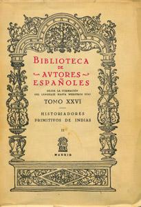 Front Cover : Historiadores primitivos de Indias