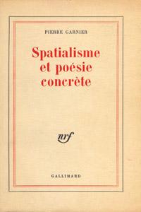 Front Cover : Spatialisme et poésie concrète