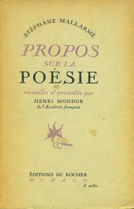 Front Cover : Propos sur la poésie