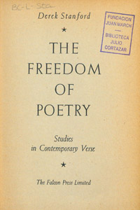 Cubierta de la obra : The freedom of poetry