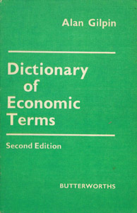 Front Cover : Dictionary of economic terms