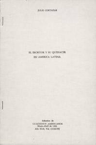 Front Cover : El escritor y su quehacer en América Latina