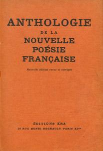 Front Cover : Anthologie de la nouvelle poésie française