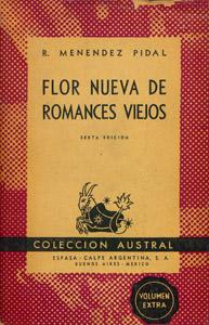 Front Cover : Flor nueva de romances viejos