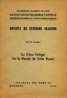 La urna griega en la poesía de John Keats [1946]. Biblioteca