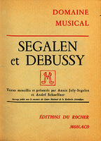 Segalen et Debussy [1962]. Biblioteca