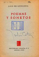 Poemas y sonetos [1940]. Biblioteca