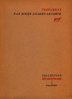 Testament poèmes et textes en prose [1955]. Biblioteca