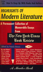Front Cover : Highlights of modern literature