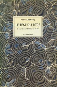 Front Cover : Le test du titre
