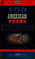 100 american poems masterpieces of lyric, epic and ballad from colonial times to the present [1948]. Biblioteca
