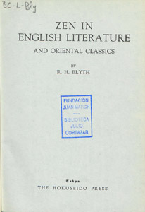 Front Cover : Zen in English literature and oriental classics