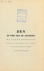 Front Cover : Zen in the art of archery