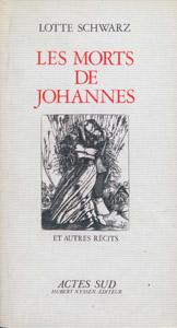 Cubierta de la obra : Les morts de Johannes et autres récits