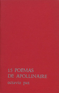Front Cover : 15 poemas de Apollinaire