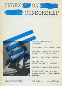 Cubierta de la obra : Index on censorship