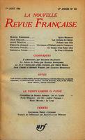 Ver ficha de la obra: Nouvelle Revue Française