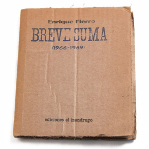 Front Cover : Breve suma (1966-1969)