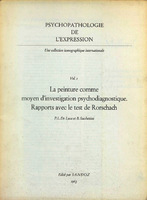 La peinture comme moyen d'investigation psychodiagnostique rapports avec le test de Rorschach [1963]. Biblioteca