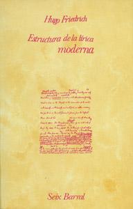 Front Cover : La estructura de la lírica moderna