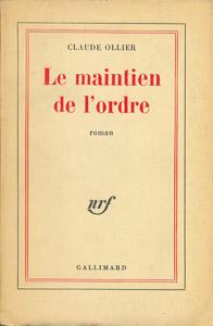 Front Cover : Le maintien de l'ordre