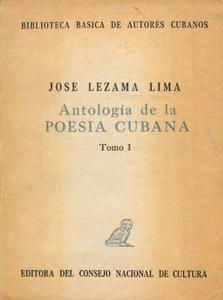 Cubierta de la obra : Antología de la poesía cubana