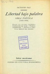 Front Cover : Libertad bajo palabra