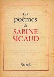 Front Cover : Les poèmes de Sabine Sicaud