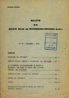 Ver ficha de la obra: Bulletin de la Société Belge des Professeurs d'Espagnol