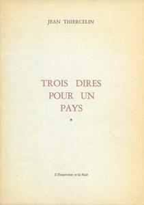 Front Cover : Trois dires pour un pays