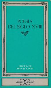 Front Cover : Poesía del siglo XVIII