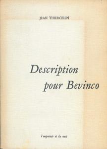Cubierta de la obra : Description pour Bevinco