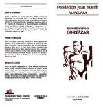 Recordando a Cortázar [programa de mano] [1993]. Biblioteca