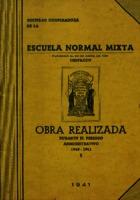 Obra realizada durante el periodo administrativo 1940-1941 [1941]. Biblioteca