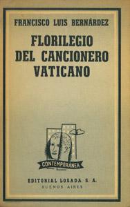 Front Cover : Florilegio del Cancionero Vaticano