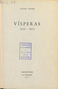 Front Cover : Visperas, 1938-1953