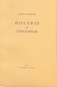 Front Cover : Discurso de Stockholm