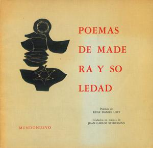 Cubierta de la obra : Poemas de madera y soledad